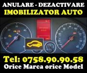 Anulare permanenta imobilizator auto – orice marca si model